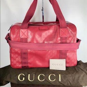 Deep Raspberry Gucci duffle